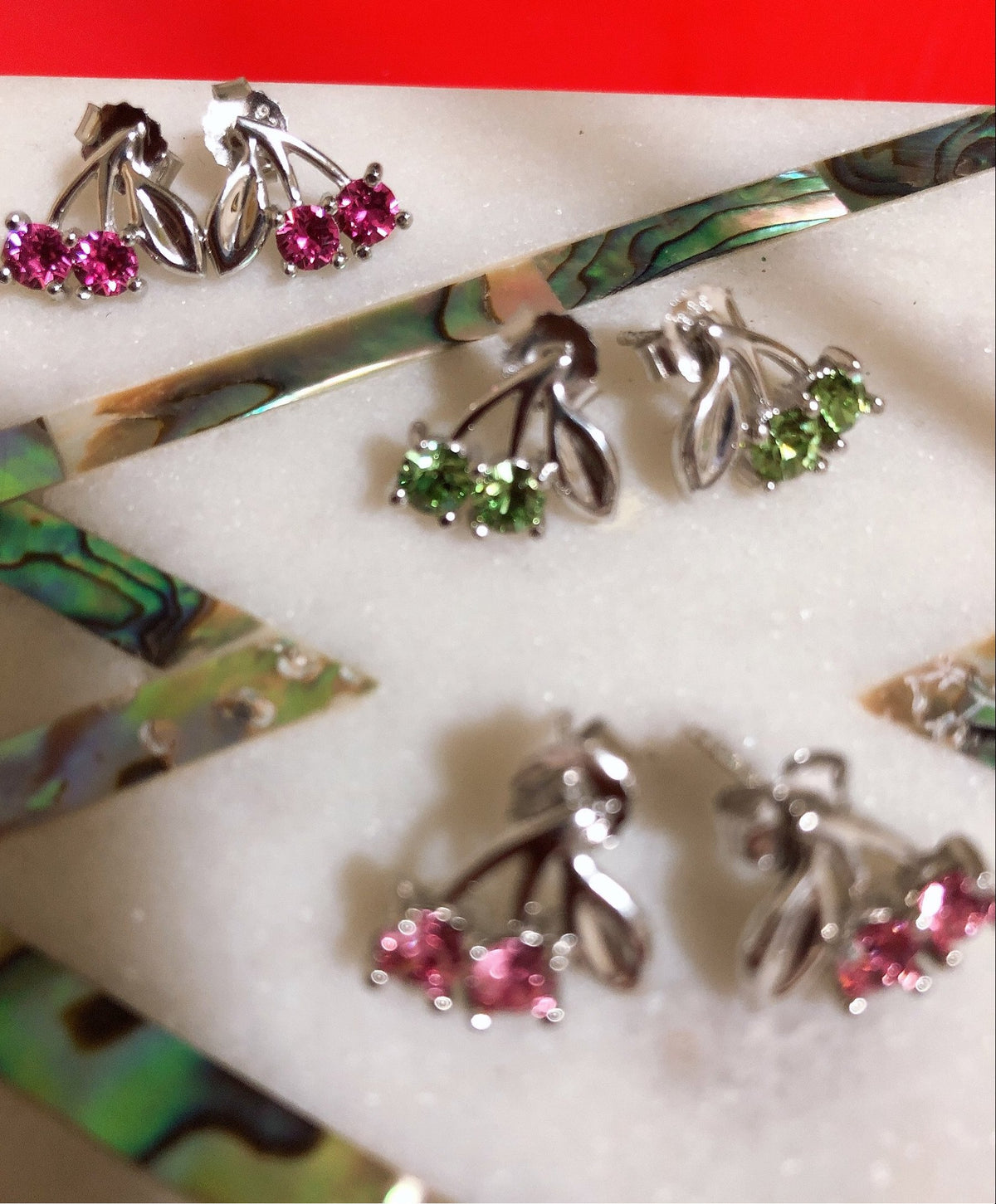 Shuu Cherry Earrings (READY STOCK 1 pair 10% off) *Pre-order will open once they're out of stock