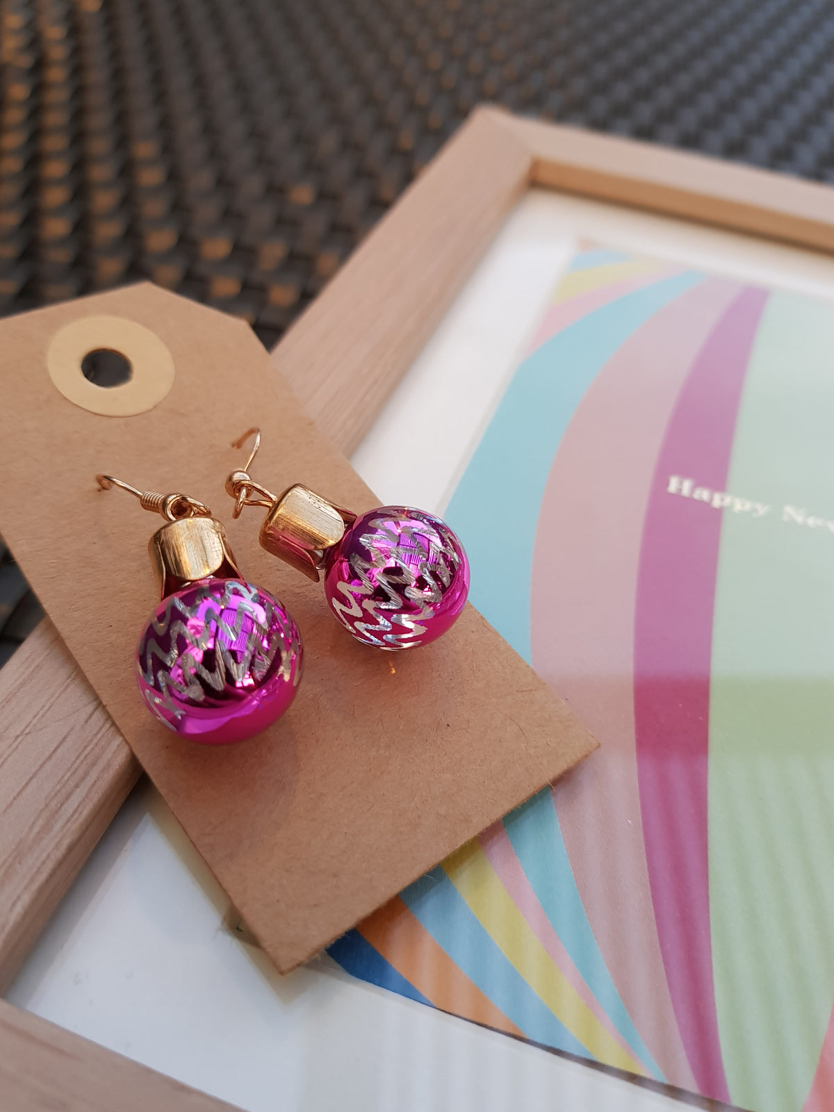 Pretty Pink Ball Earrings