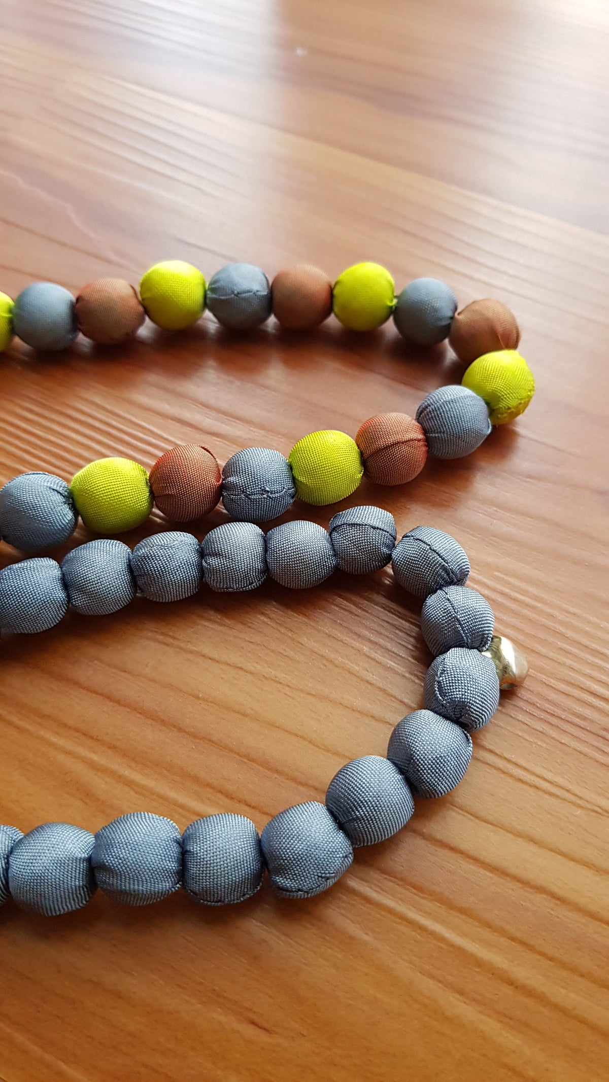 Leela Silk Necklace- Grey