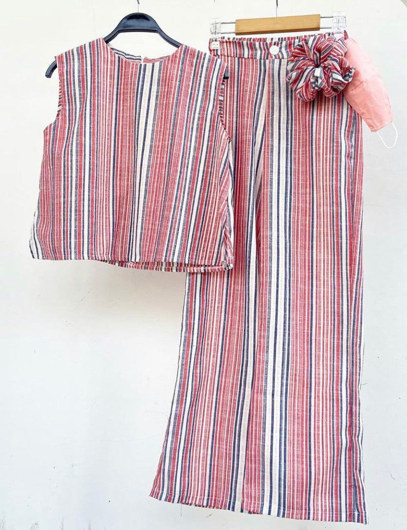 Nusa Striped Top and Pants All In 1 Set