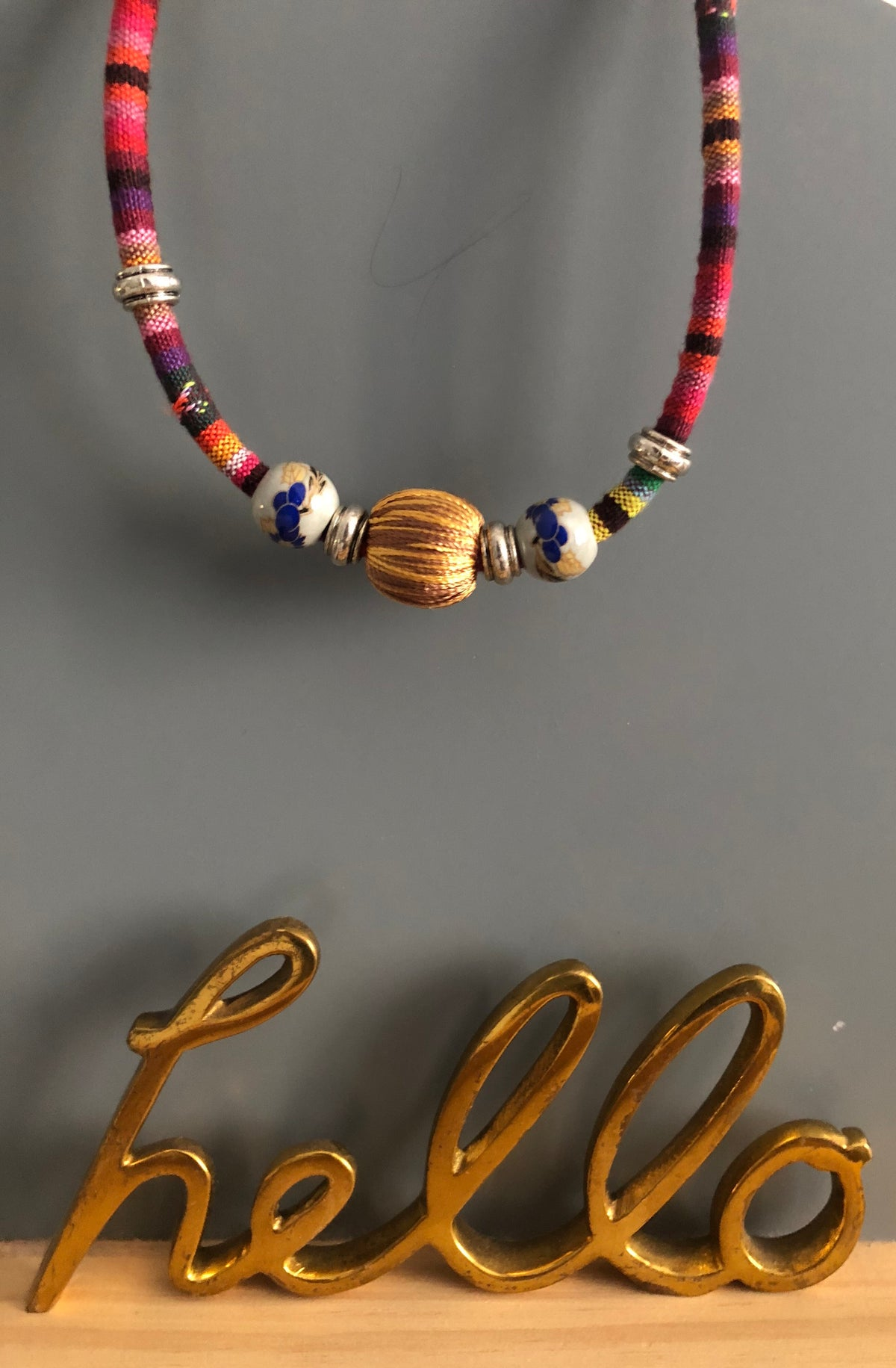 Hiraya Woven Ethnic Fabric Necklace