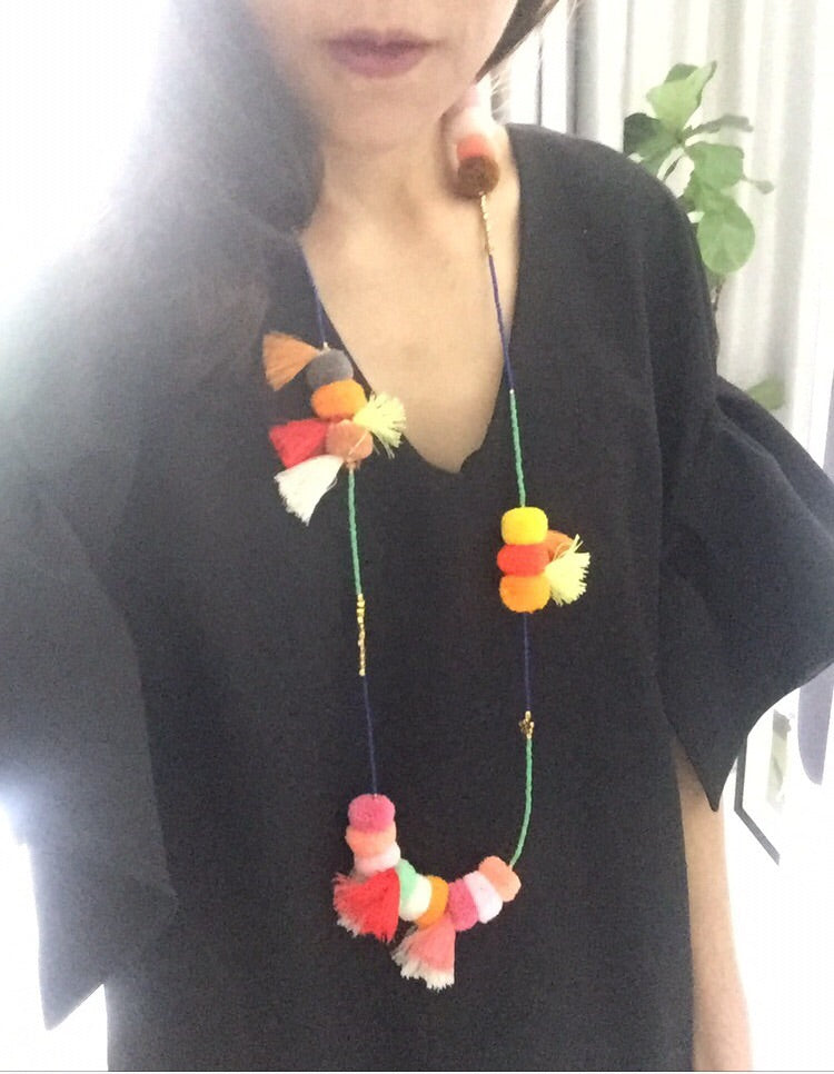 Friday Pom Pom Necklace
