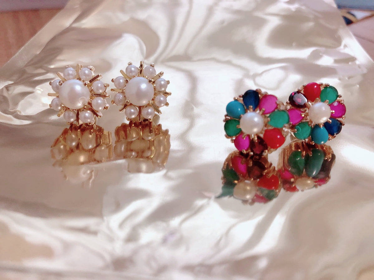 Amara Flower Stud Earrings