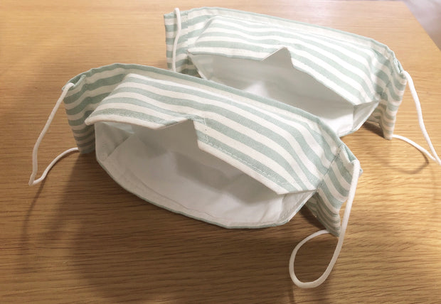 VEE 3D Boat Shape Mask (Serene Green Stripe)