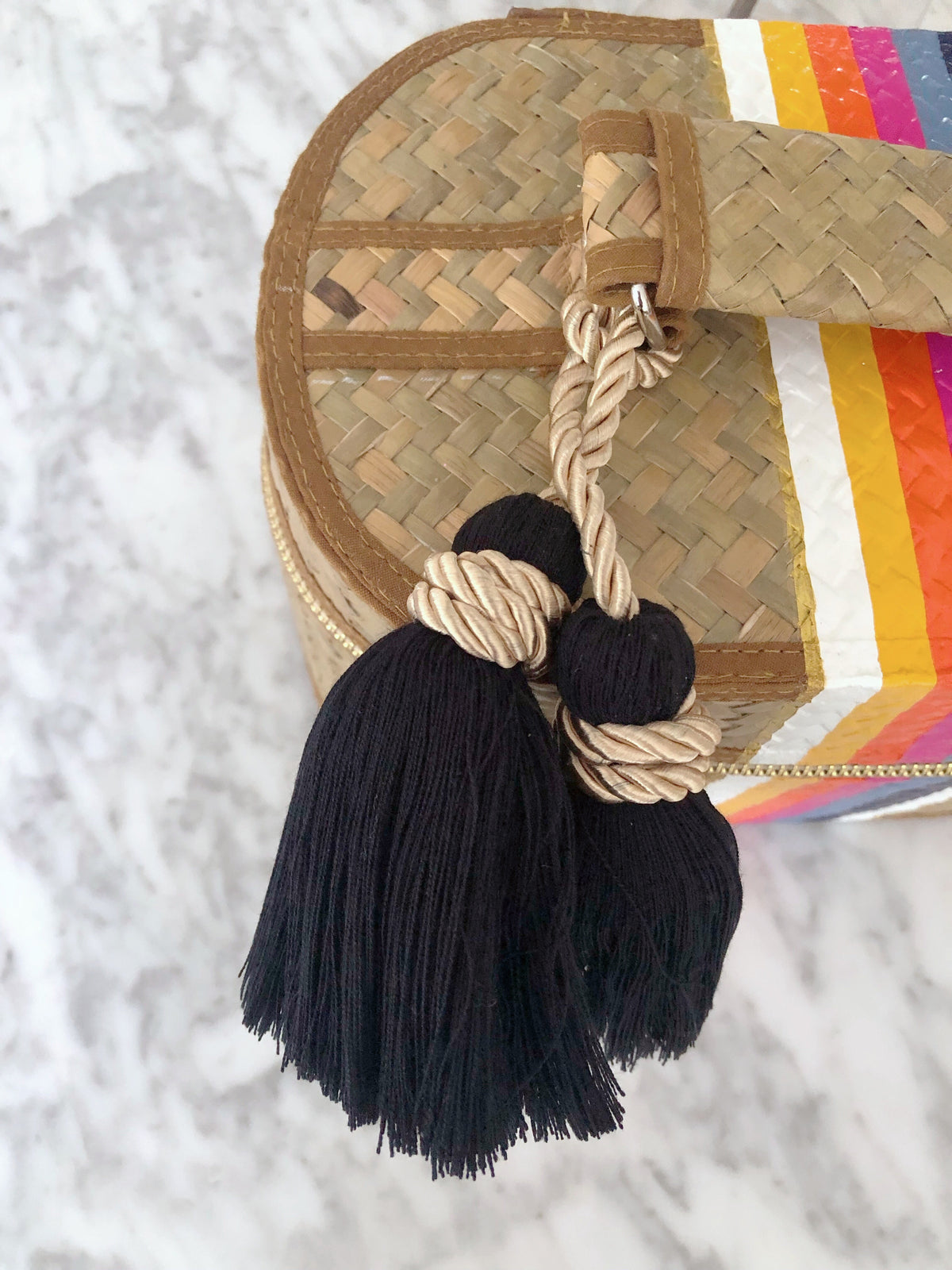 Lalin Bag Accessories- A Set of 2 Twilly Scarves and Tassel (20%OFF)