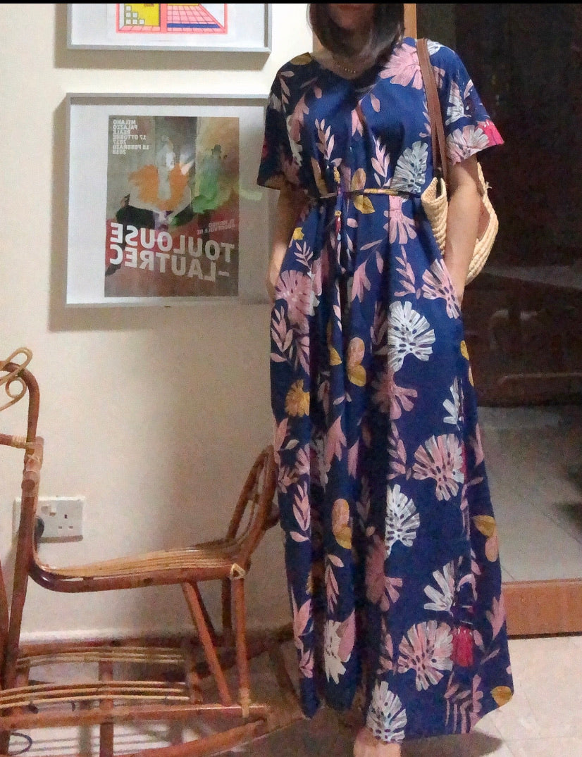 Flora blue jumpsuit