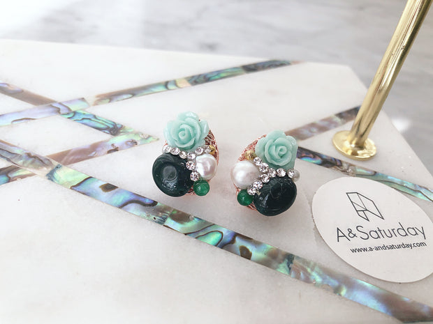 Botanica Collection: Blossom Earrings (in stock)