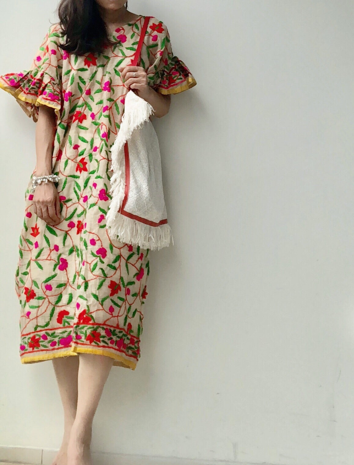 Floral Hand Embroidered Dress