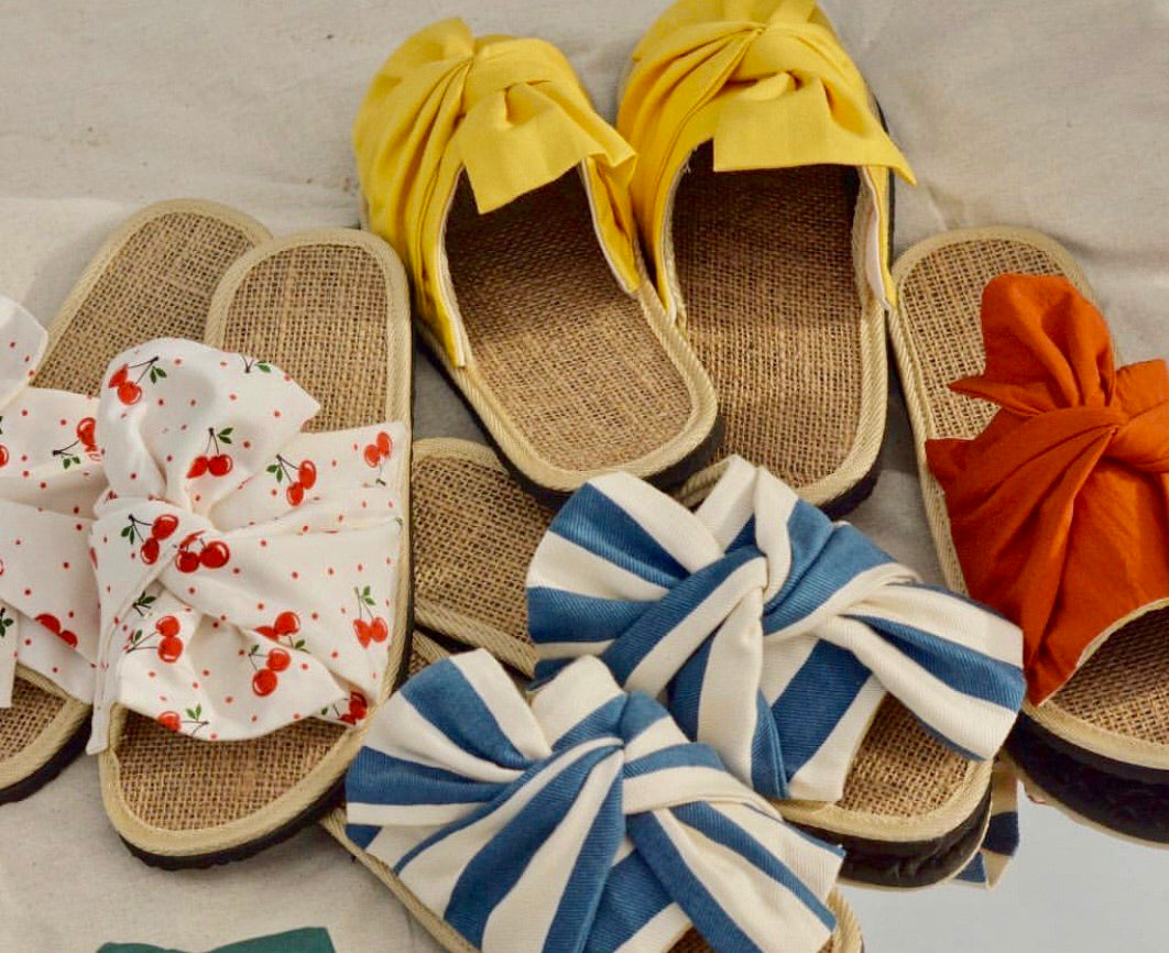 Mimi Customised Ribbon Sandals (1 fabric print/colour only)