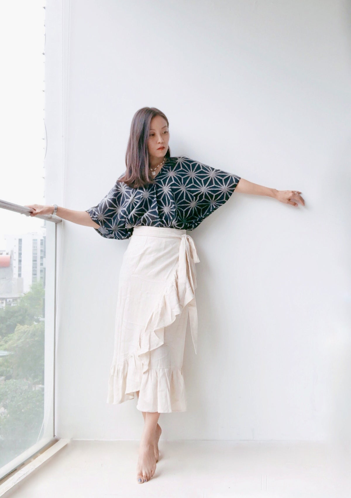 Jungko Linen Wrap Skirt (in stock)