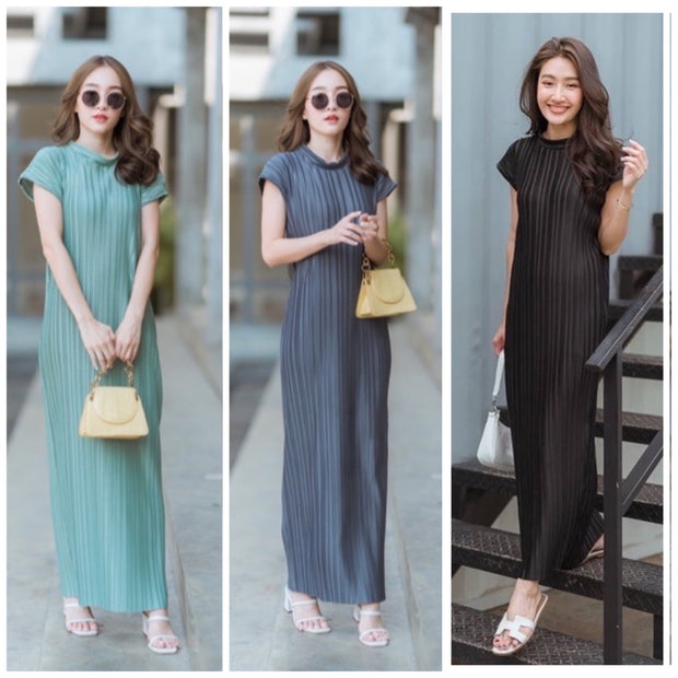 Turi Pleated Maxi Dress