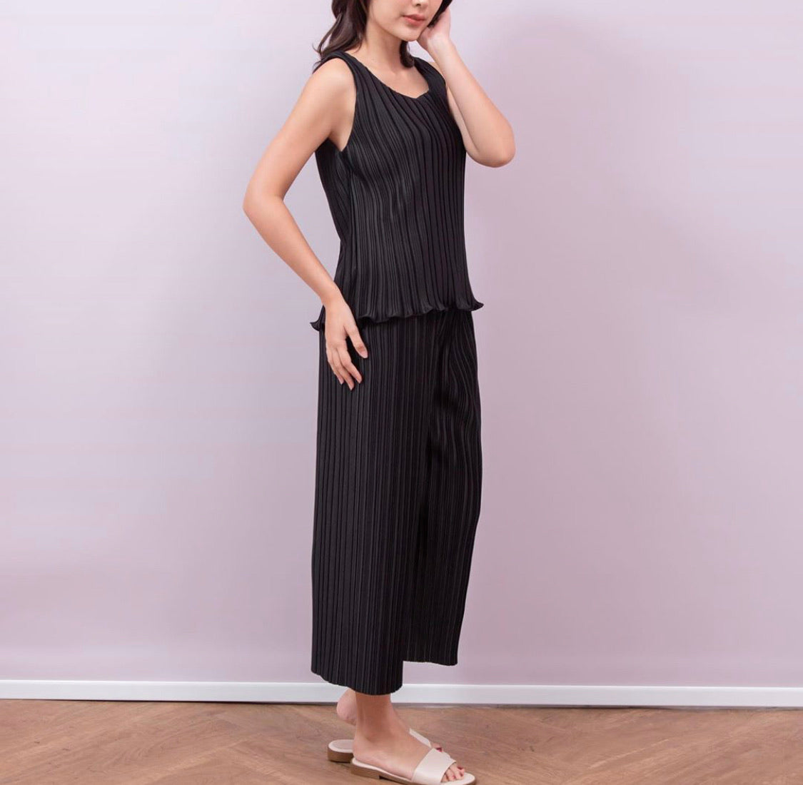 Sarai Pleated Tank Top