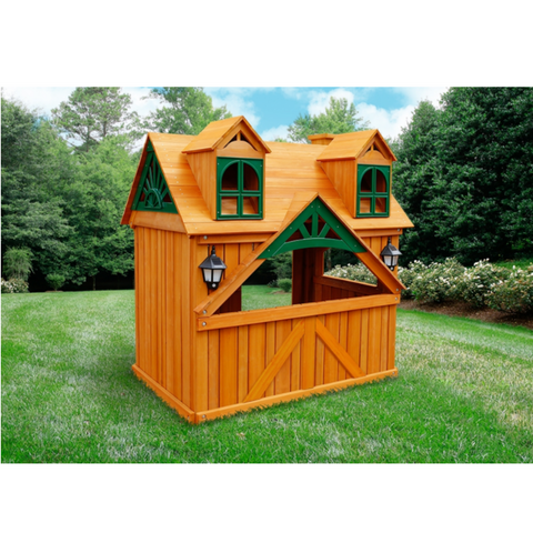 Gorilla Malibu Playhouse with Shutters & Chimney with Solar Lights