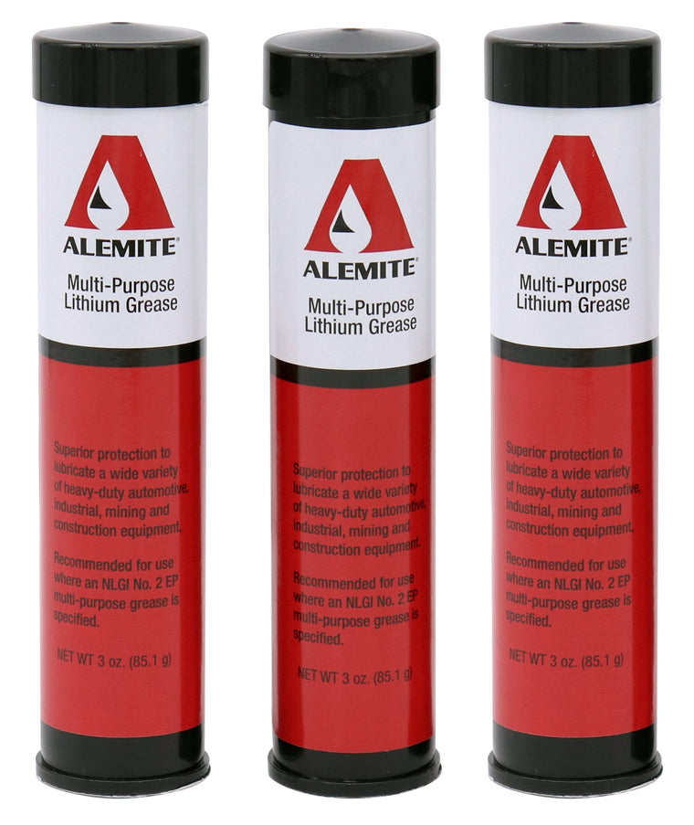 Alemite B408 - 3-pack of 3 oz. grease cartridges for mini grease guns