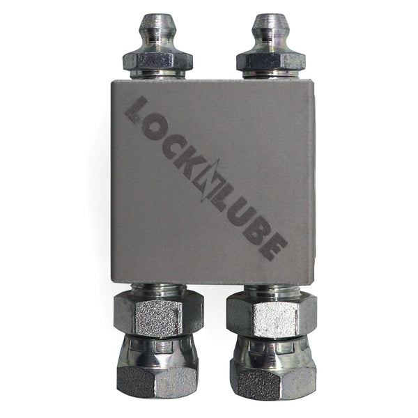 LockNLube Magnetic Grease Fitting Relocation Block