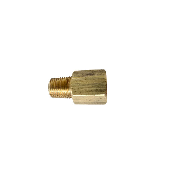 "Metric 10x1 (f) to 1/8"" NPT (m) adapter"