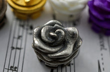 Rose design crown for concert flutes in Sterling Silver, Polished Bronze, and various other materials and finishes