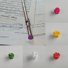 Set of 3 Colourful Rose Crown for Concert Flutes - choose your colours