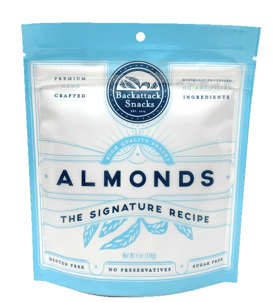The Signature Recipe Almonds 4 oz Packs - Backattack Snacks