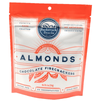 Chocolate Firecrackers Flavored Almonds 4oz packs - Backattack Snacks