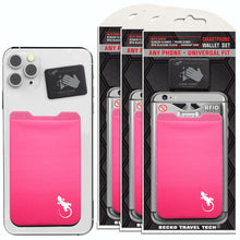 3 PACKS, Phone Wallets by Gecko, Universal Card Holder for Phones, 50+ Phone Case that holds Cards - Gecko Phone Wallets Stick on to any Phone/Case