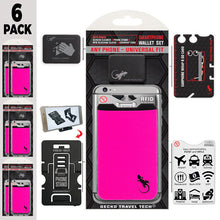 Phone Wallet - Phone Card Holder - Gecko Travel Tech -  - Gecko Phone Wallet - 6 PACKS