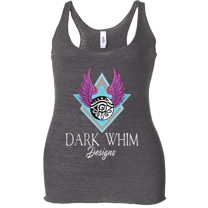Dark Whim Logo Women's Charcoal Black Racerback Tank Top