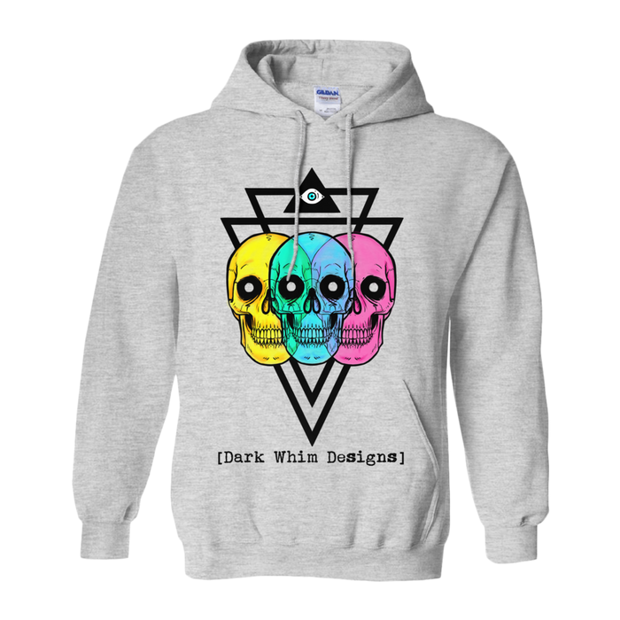 Intergalactic Tri-Force Men's Gray Hoodie