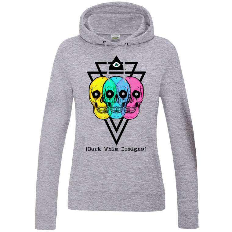 Intergalactic Tri-Force Women's Gray Hoodie