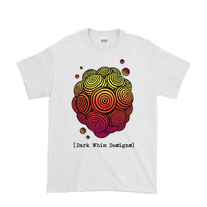 Psychedelic Solar Flare Men's White T-Shirt