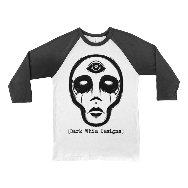 Demon Daze Unisex White 3/4 Sleeve Baseball Tee