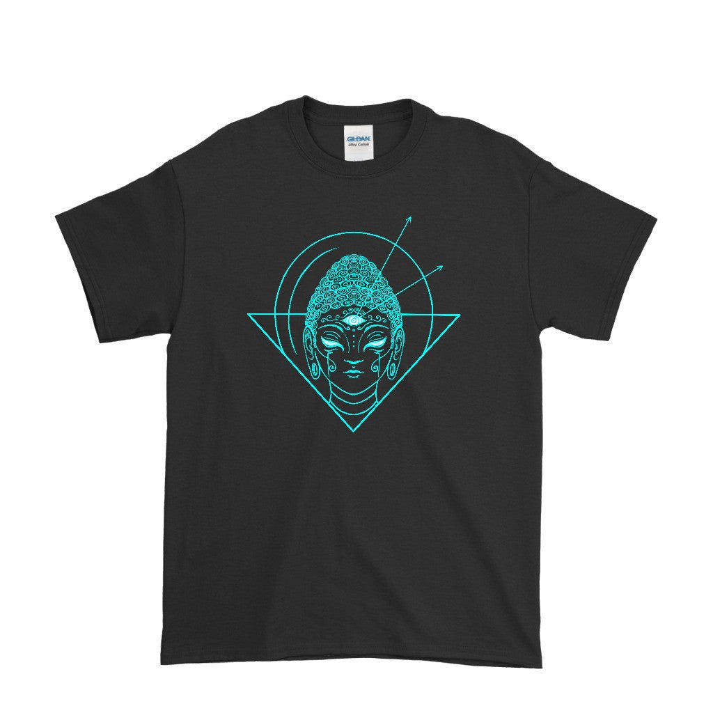Electro Buddha Men's Black T-Shirt