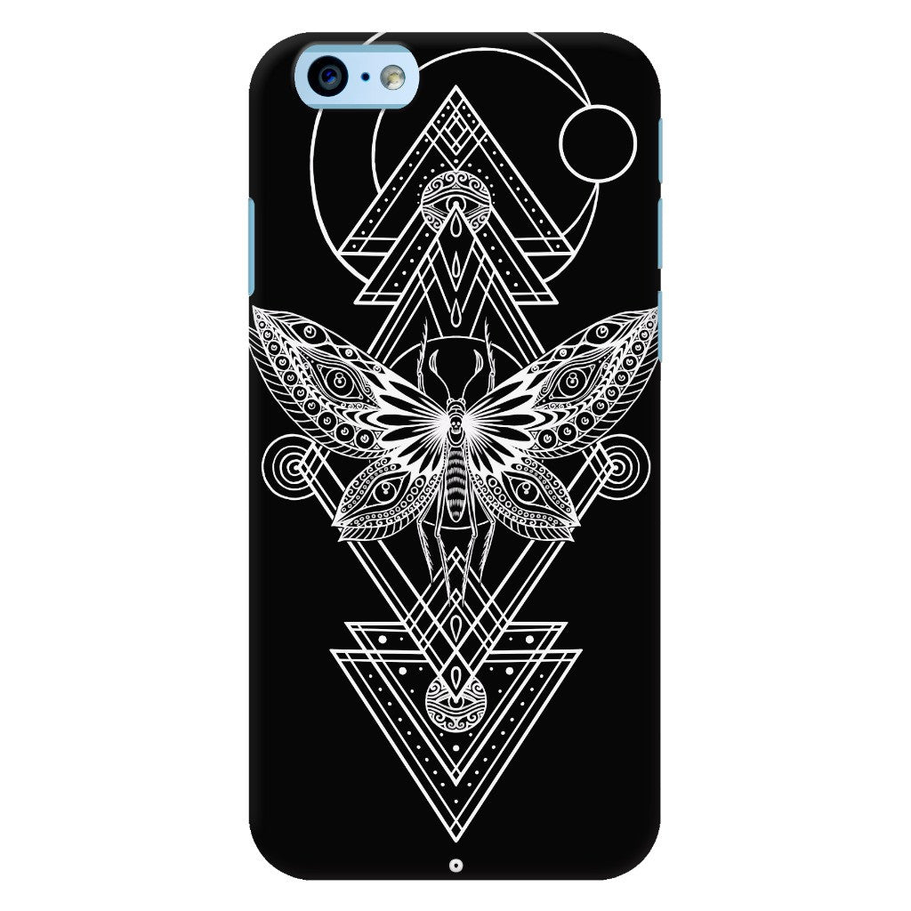 Geometric Moth Black Phone Case for iPhone 6