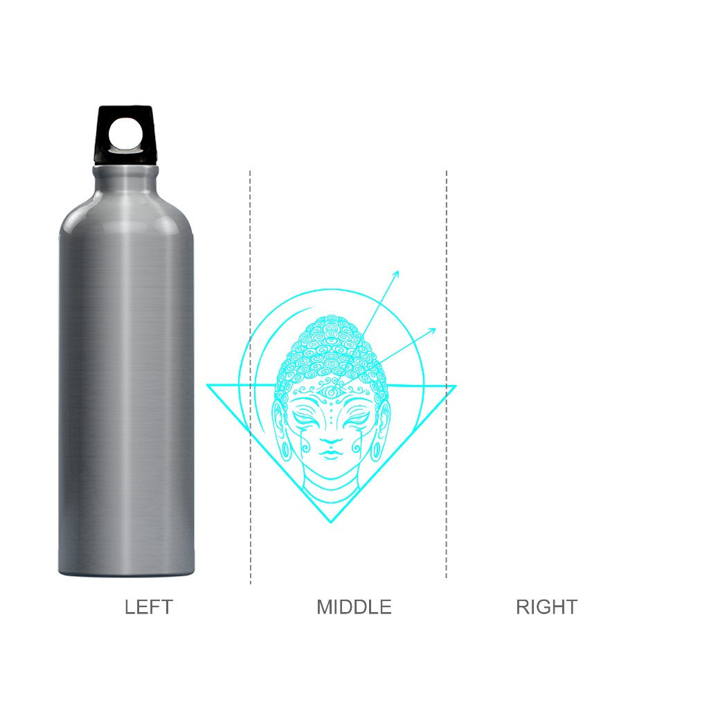 Electro Buddha Silver Waterbottle
