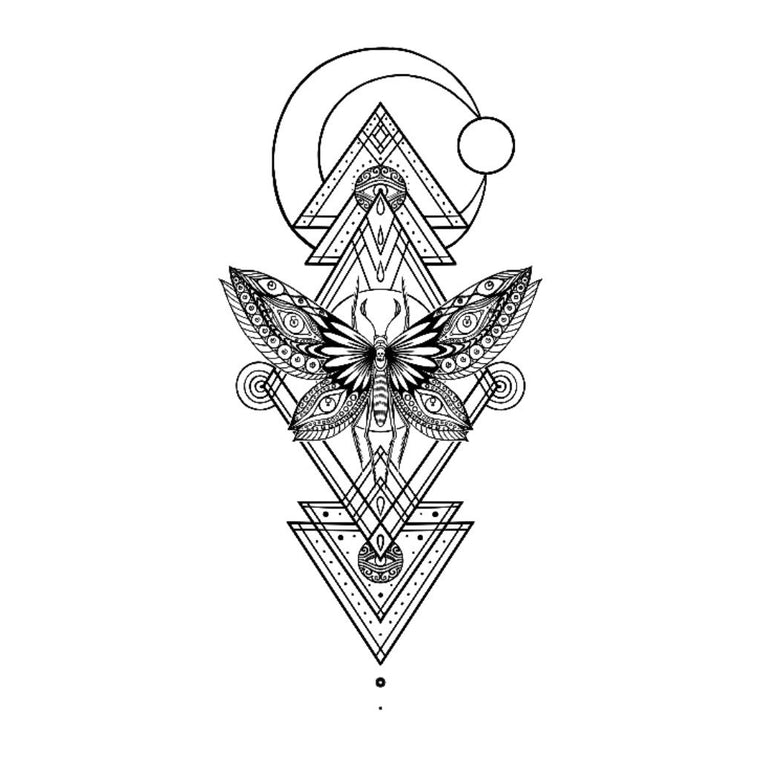 Geometric Moth Sticker