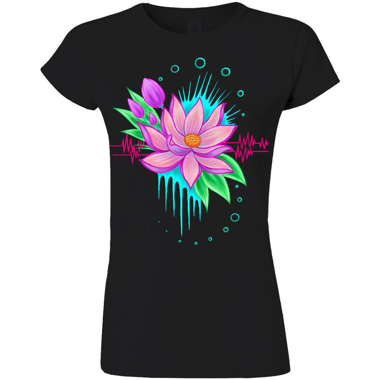 Electric Lotus Women's Black T-Shirt (E.U.)