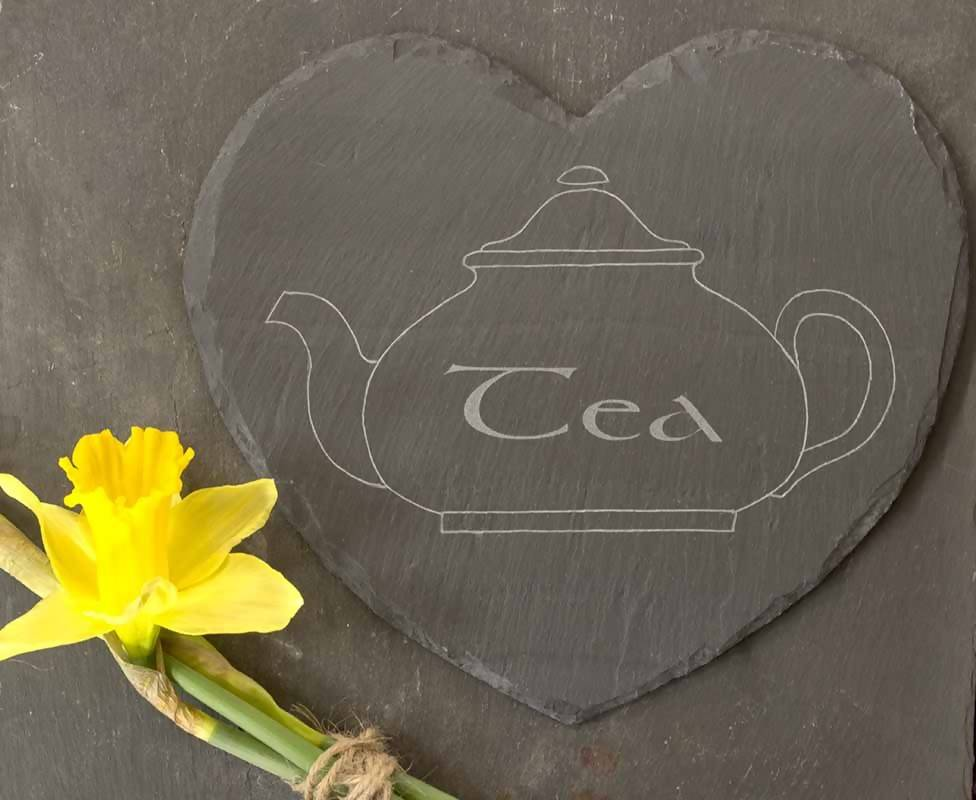Welsh Slate Heart, 'Tea'