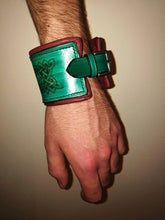Hand Stitched Leather Cuff with Hand Engraved Celtic Design