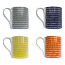 Welsh Proverb Mug (Orange)