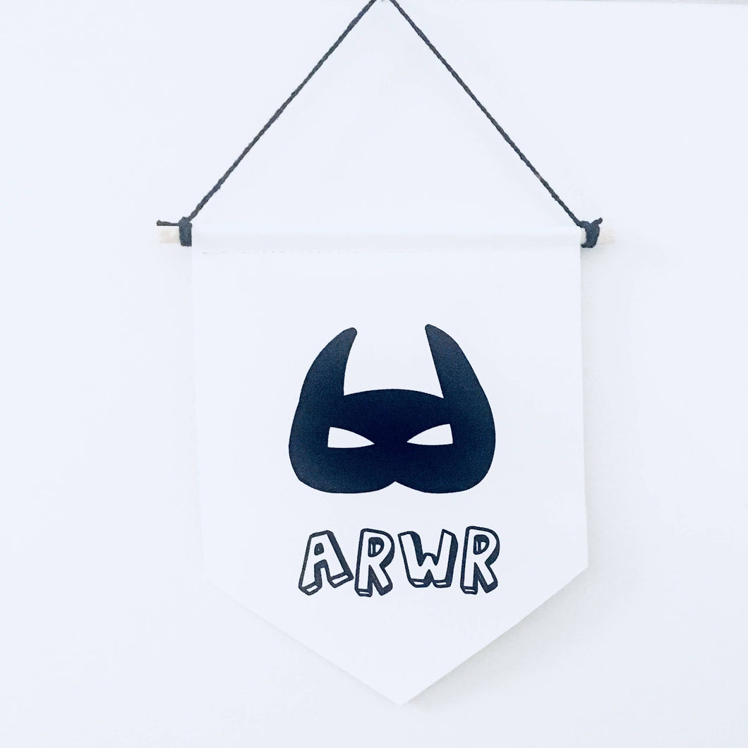Arwr /Hero Welsh Canvas print wall Banner