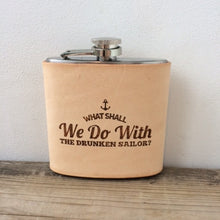 Drunken Sailor Leather Rum Hip Flask