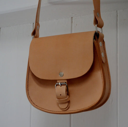 Vegetable Tanned Leather Saddle Bag
