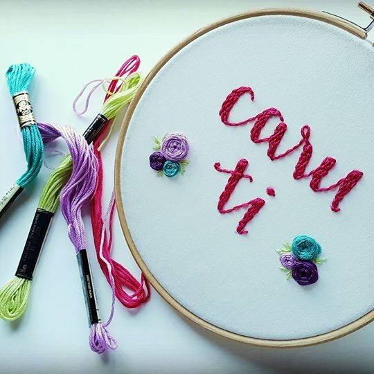 Embroidered  Hoop (Personalised)