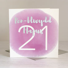"""Pen-blwydd Hapus 21"" (Happy Birthday age 21) Card"