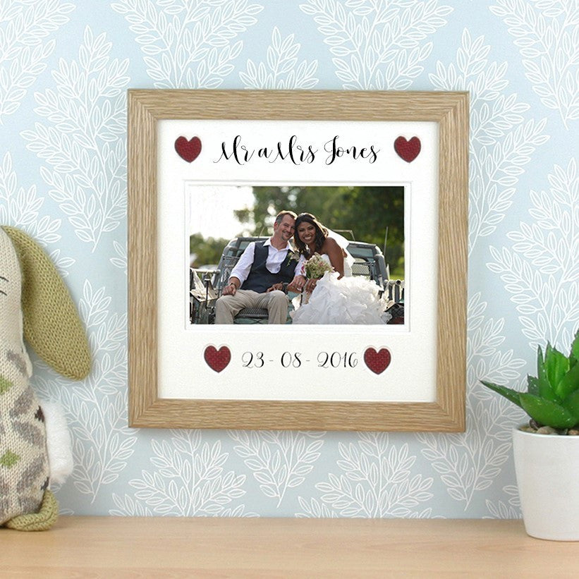 Mr A Mrs Frame Customisable Surname Date Y Stryd Fach