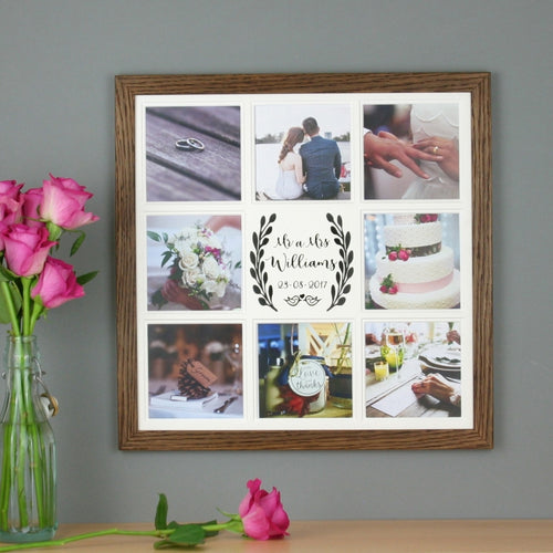 Wedding multi photo frame  personalised