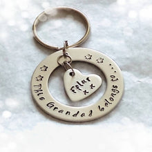 Personalised Washer Keyring