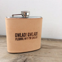 Gwlad! Leather Hip Flask