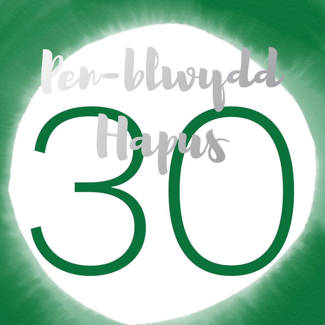 Pen-blwydd hapus 30 (Happy birthday 30) card