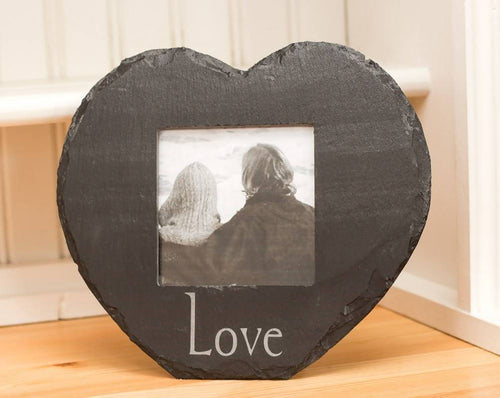 Welsh Slate Heart Picture Frame, Love